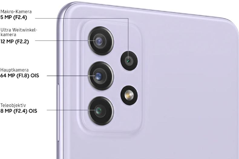 Die Kamera-Ausstattung des Samsung Galaxy A72