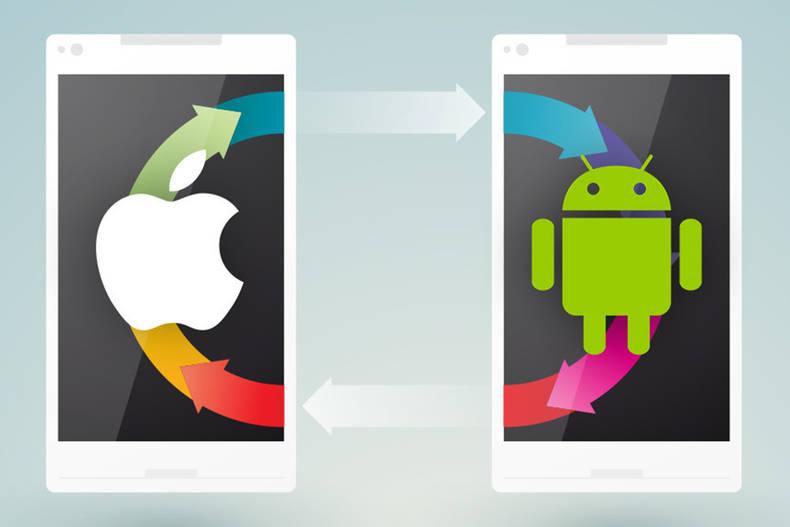 Datenübertragung von iOS auf Android