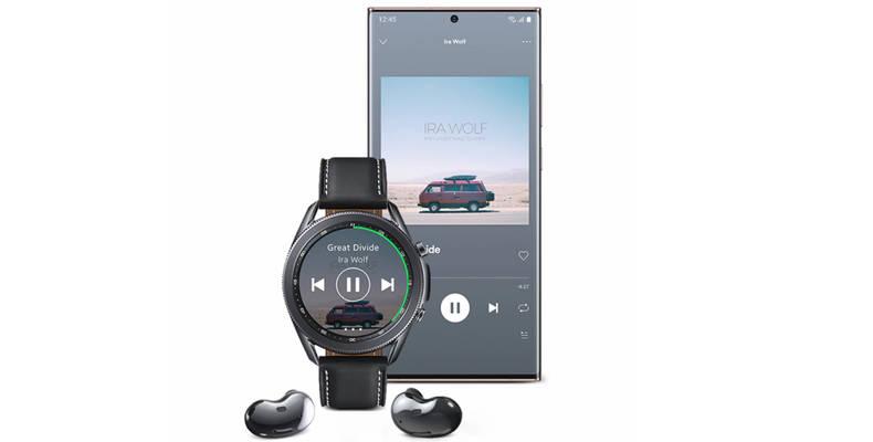Galaxy-Smartphone mit kompatibler Watch und Buds über die Galaxy Wearable App verbinden.