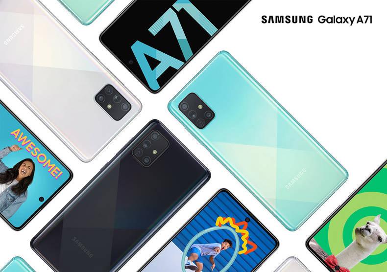 Display und Kamera des Samsung Galaxy A71