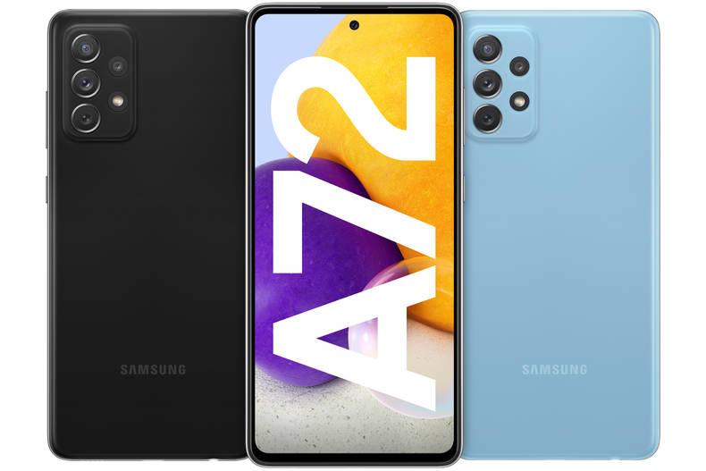 Display und Kamera des Samsung Galaxy A72