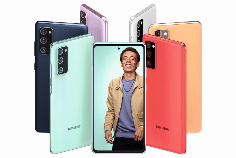 Samsung Galaxy S20 FE in sechs verschiedenen Farben