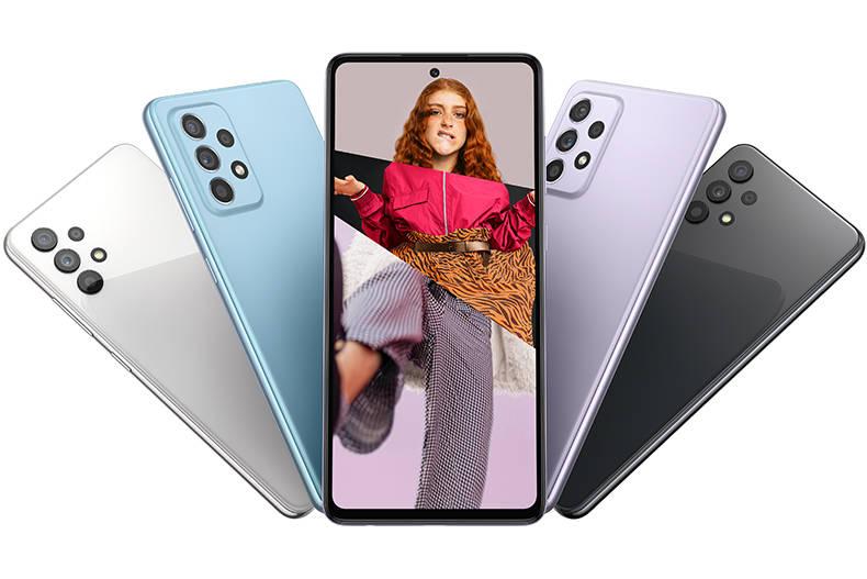 Das hochauflösende Display des Galaxy A52 4G