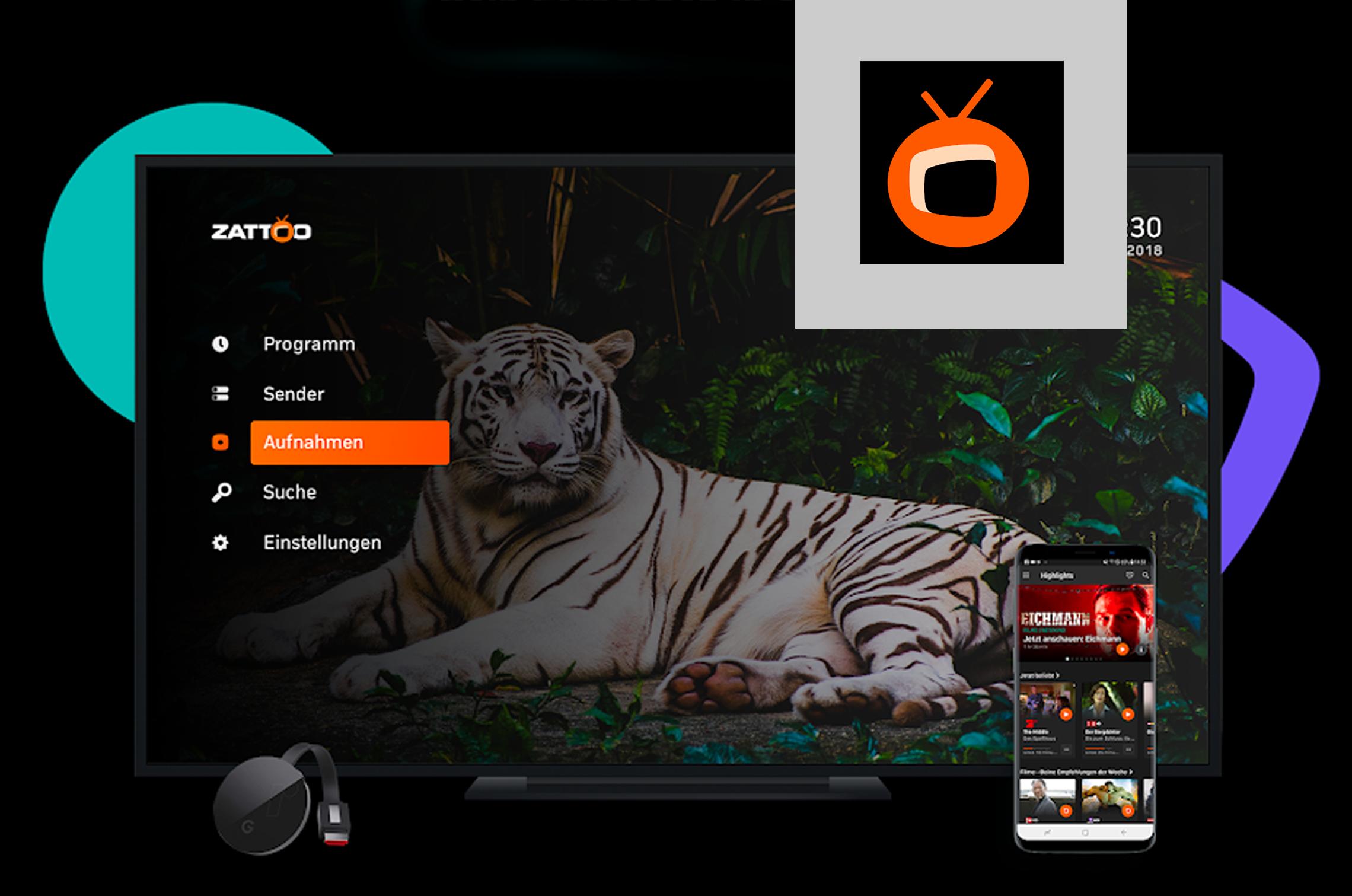 Mobiles TV-Streaming mit der App von Zattoo